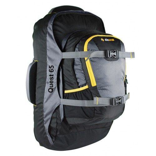 Quest 65 Litre Travel Pack including a 20L removable daypack