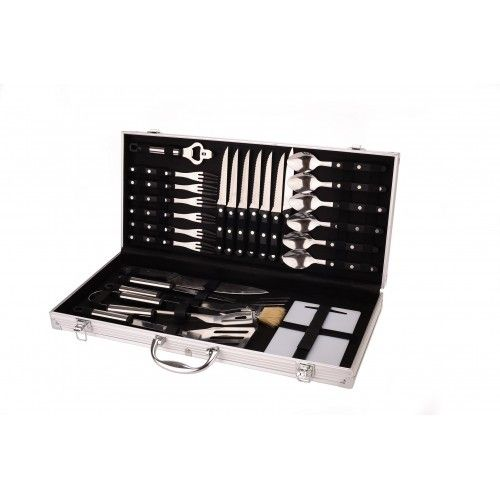 26 Piece Stainless Steel Cutlery & BBQ Set