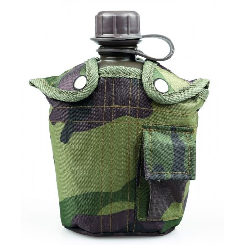 1 Quart Army Camouflage Plastic Canteen (945ml)